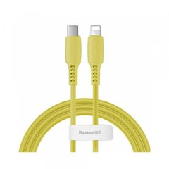 PD кабель Baseus Colourful Cable Type-C For iP 18W 1.2m Yellow