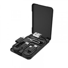 Кабель HOCO U86 Treasure with Storage Case Multi/Micto/Type-C/Lightning/PD/Card-Pin 3A/0,28m. Black