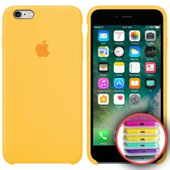 Silicone Case Full for iPhone 6S (55) canary yellow