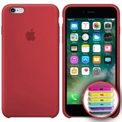 Silicone Case Full for iPhone 6SPlus (36) rose red