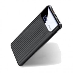 Power Bank BASEUS PREMIUM Thin QC3.0 USB M+T Daul input LCD 10 000 mAh Black