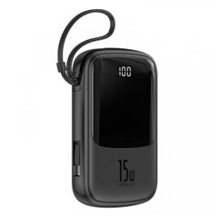 Power Bank Baseus Q pow Digital Display 3A Power Bank 10000mAh (With IP Cable) Black