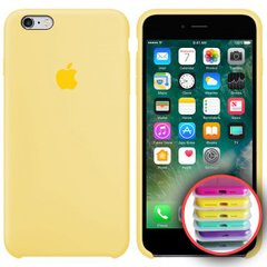Silicone Case Full for iPhone 6S (51) mellow yellow