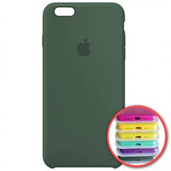 Silicone Case Full for iPhone 6SPlus (58) pine green