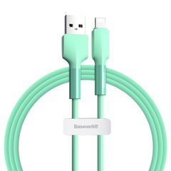 USB кабель Baseus Silica gel cable USB For IP 1m Green