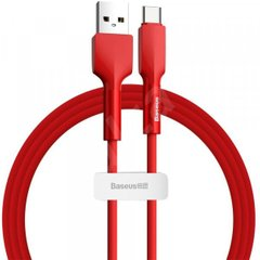 PD кабель Baseus halo data cable Type-C PD2.0 60W (20V 3A) 2m Red