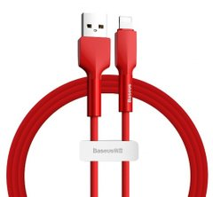 USB кабель Baseus Silica gel cable USB For IP 1m Red