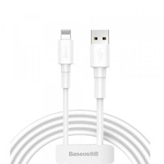 USB кабель Baseus Mini White Cable USB For Lightning 2.4A 1m White