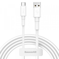 USB кабель Baseus Mini White Cable USB For Type-C 3A 1m White