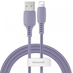 USB кабель Baseus Colourful Cable USB For iP 2.4A 1.2m Purple