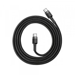 PD кабель Baseus halo data cable Type-C PD2.0 60W (20V 3A) 0.5m Black